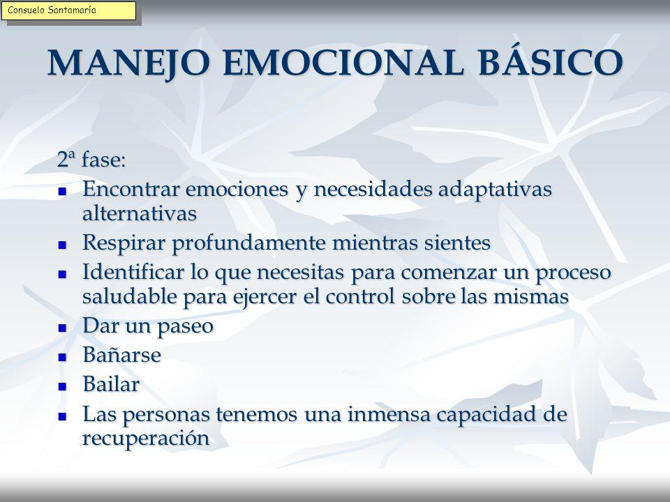 MANEJO EMOCIONAL BÁSICO 2ª fase: Identificar los pensamientos destructivos que acompañan a la emoción desadaptativa.