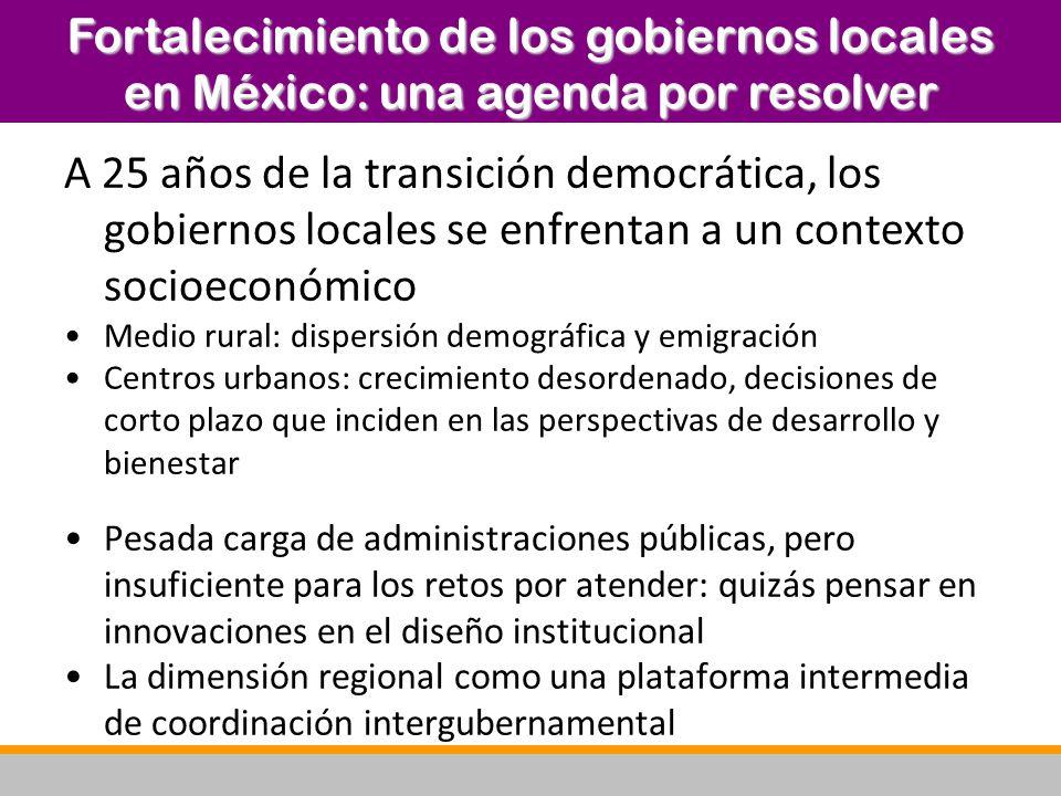 A 25 años de la transición democrática, los gobiernos locales se enfrentan a un contexto socioeconómico Medio rural: dispersión demográfica y emigraci