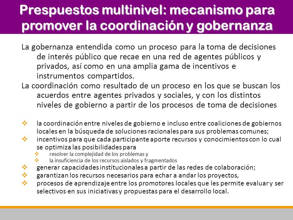 La gobernanza entendida como un proceso para la toma de decisiones de interés público que recae en una red de agentes públicos y privados, así como en