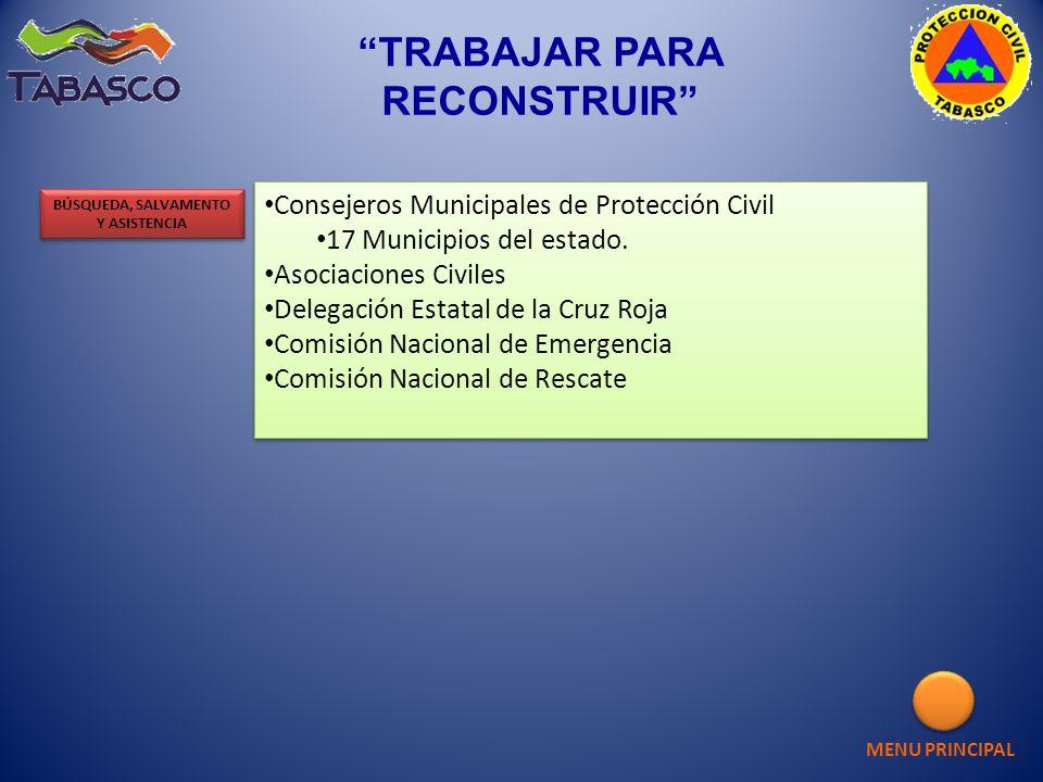 Consejeros Municipales de Protección Civil 17 Municipios del estado. Asociaciones Civiles Delegación Estatal de la Cruz Roja Comisión Nacional de Emer