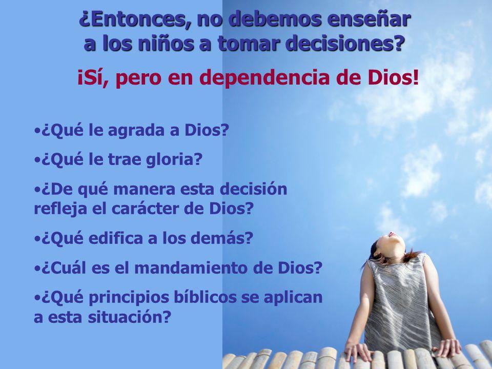 ¿Qué le agrada a Dios? ¿Qué le trae gloria? ¿De qué manera esta decisión refleja el carácter de Dios? ¿Qué edifica a los demás? ¿Cuál es el mandamient