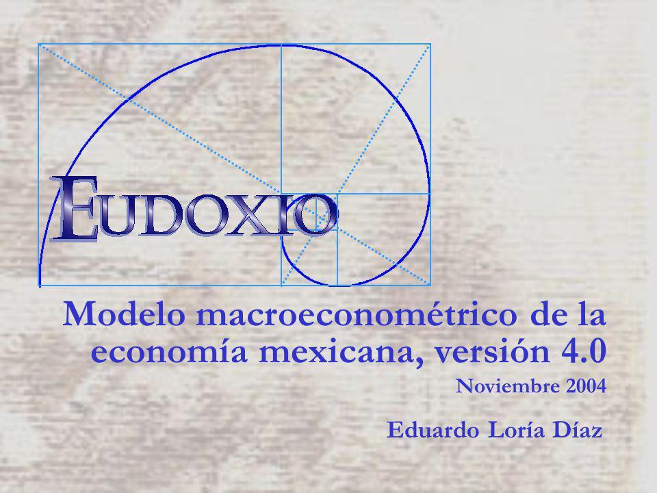 4.Describe las principales variables endógenas de la economía mexicana.