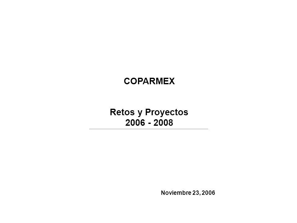 COPARMEX Retos y Proyectos 2006 - 2008 Noviembre 23, 2006