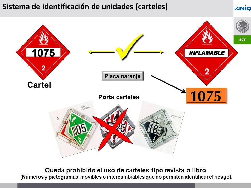 S UBSECRETARÍA DE T RANSPORTE Cartel Placa naranja Porta carteles Sistema de identificación de unidades (carteles) Queda prohibido el uso de carteles tipo revista o libro.