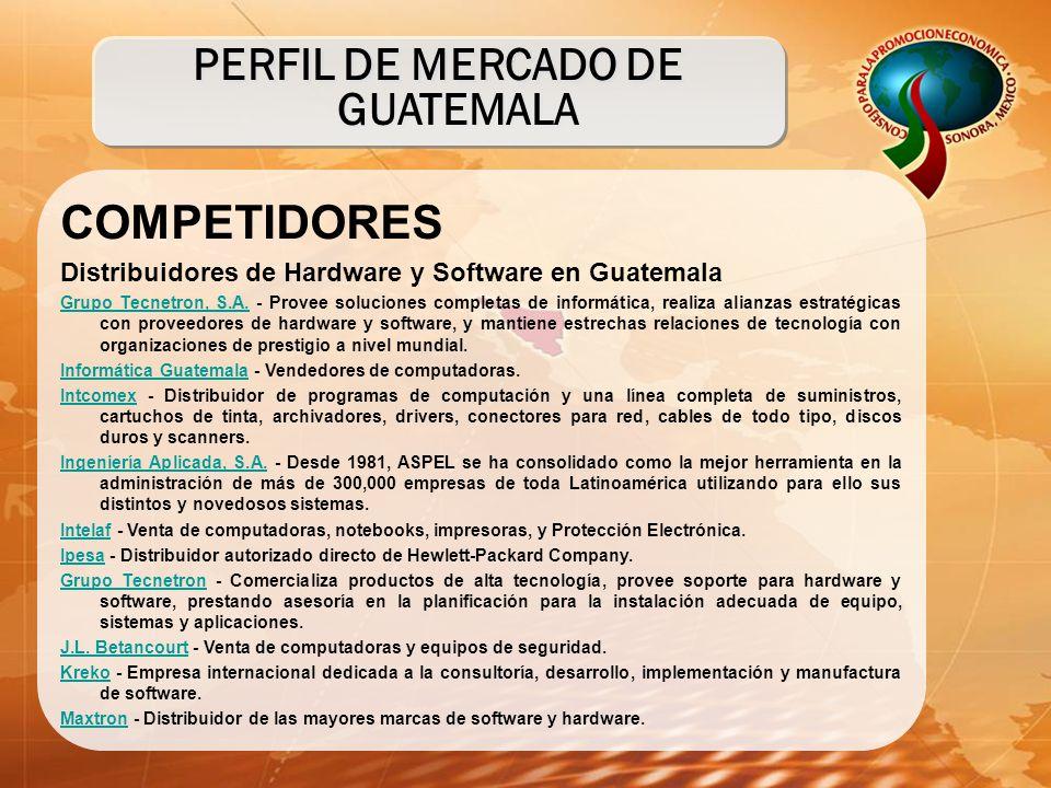 COMPETIDORES Distribuidores de Hardware y Software en Guatemala Grupo Tecnetron, S.A.Grupo Tecnetron, S.A. - Provee soluciones completas de informátic