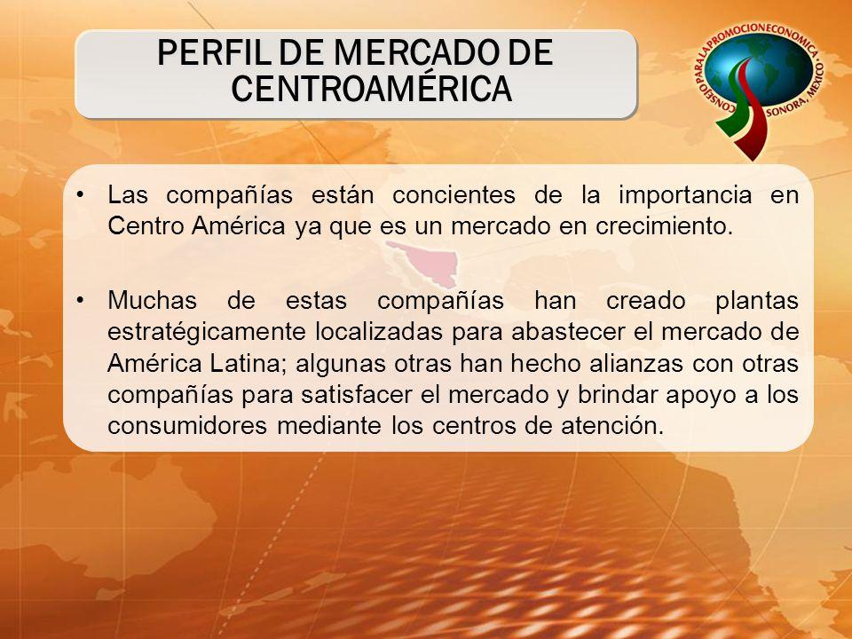 Las compañías están concientes de la importancia en Centro América ya que es un mercado en crecimiento. Muchas de estas compañías han creado plantas e