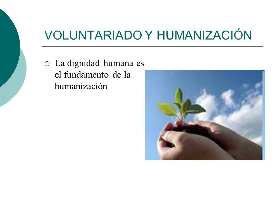 VOLUNTARIADO Y HUMANIZACIÓN Humanizar: significado Etimología: Humanizar humanar Humanidad Naturaleza humana Todo lo relativo al ser humano Humano del