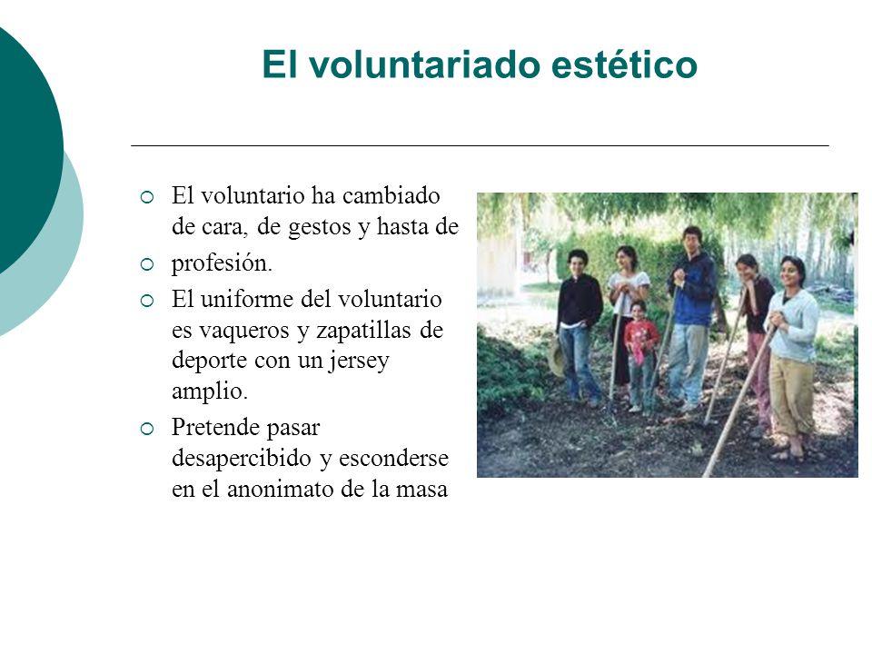 RESUMIENDO El voluntariado oficial Encasilla y limita las posibilidades de trabajo del voluntario. Tiene dependencia económica. Se financia por subven