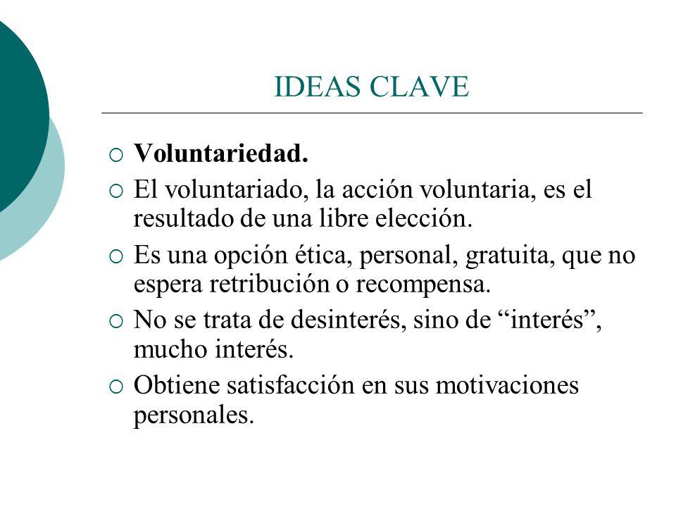 El voluntariado postmoderno CRECE: En España se llegó a más de quinientos mil voluntarios a mediados de los noventa. Elabora libros e informes. El vol
