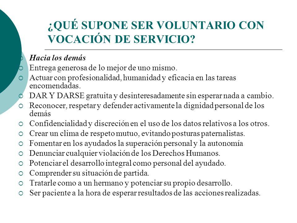 Voluntario con vocación de servicio vive el espíritu comunitario.