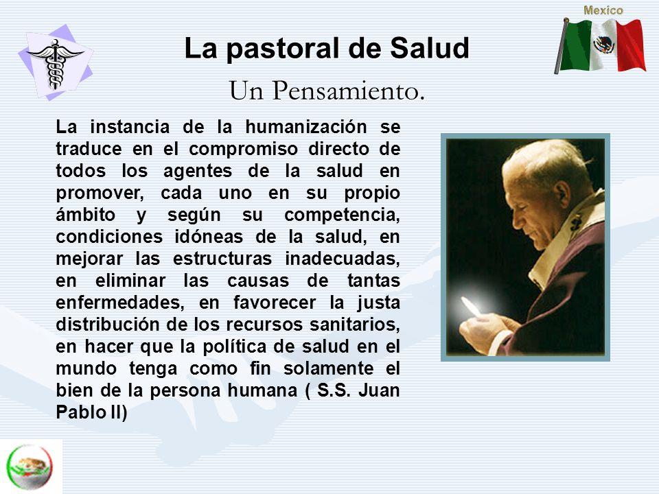 La pastoral de Salud Un Pensamiento.