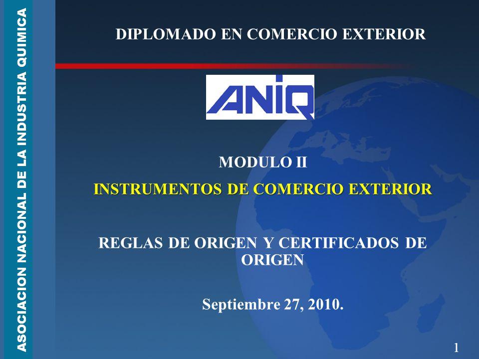 1 DIPLOMADO EN COMERCIO EXTERIOR MODULO II INSTRUMENTOS DE COMERCIO EXTERIOR REGLAS DE ORIGEN Y CERTIFICADOS DE ORIGEN Septiembre 27, 2010.