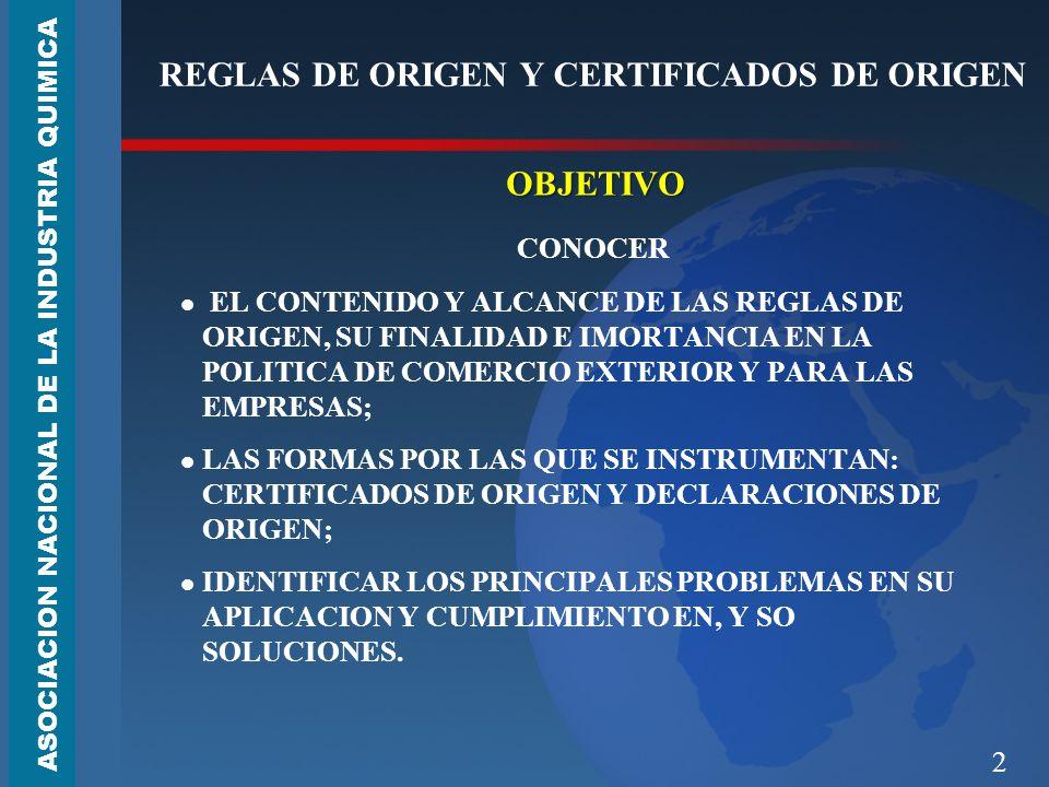 2 REGLAS DE ORIGEN Y CERTIFICADOS DE ORIGEN OBJETIVO CONOCER EL CONTENIDO Y ALCANCE DE LAS REGLAS DE ORIGEN, SU FINALIDAD E IMORTANCIA EN LA POLITICA DE COMERCIO EXTERIOR Y PARA LAS EMPRESAS; LAS FORMAS POR LAS QUE SE INSTRUMENTAN: CERTIFICADOS DE ORIGEN Y DECLARACIONES DE ORIGEN; IDENTIFICAR LOS PRINCIPALES PROBLEMAS EN SU APLICACION Y CUMPLIMIENTO EN, Y SO SOLUCIONES.