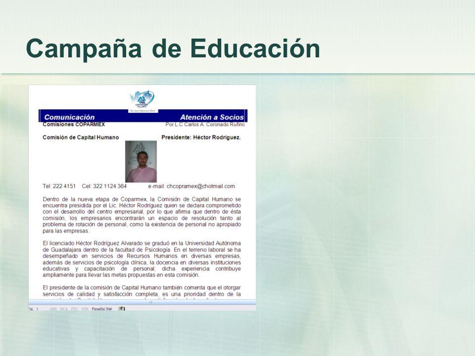 Campaña de Educación