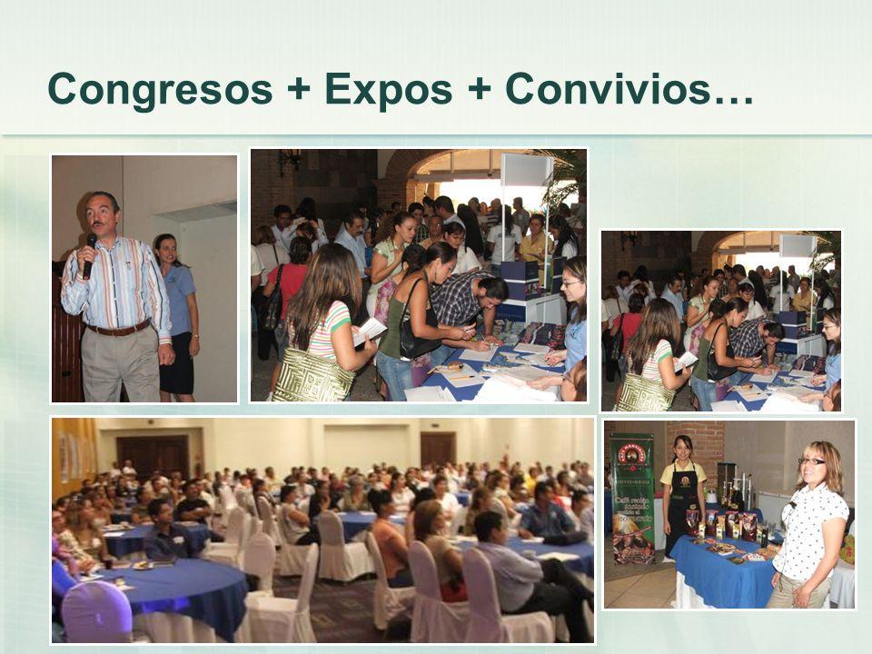 Congresos + Expos + Convivios…