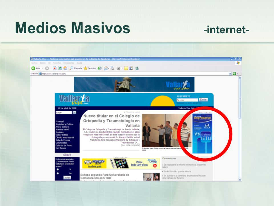 Medios Masivos -internet-