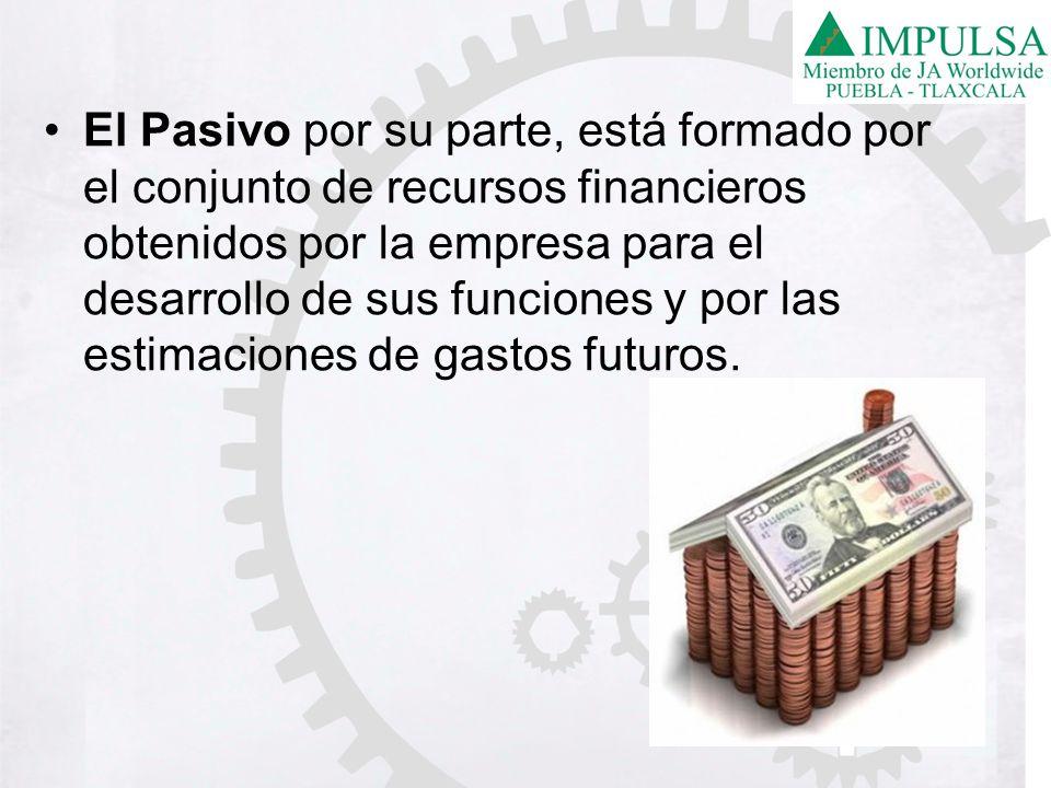 El Pasivo por su parte, está formado por el conjunto de recursos financieros obtenidos por la empresa para el desarrollo de sus funciones y por las es