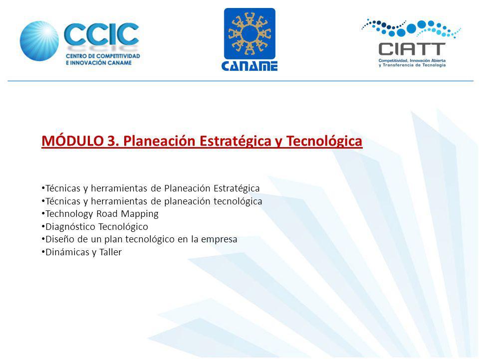 MÓDULO 3. Planeación Estratégica y Tecnológica Técnicas y herramientas de Planeación Estratégica Técnicas y herramientas de planeación tecnológica Tec