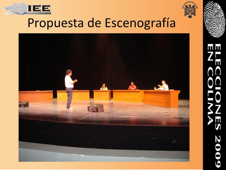 Orden de las intervenciones de debatientes Se realizarán nueve sorteos, uno por cada intervención, el relativo a la ubicación en el escenario, así como el lugar que ocuparán los invitados de los candidatos y candidata.