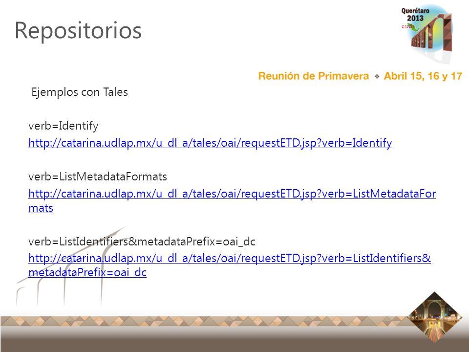Reunión Primavera 2012 Ensenada, Baja California Repositorios Ejemplos con Tales verb=Identify http://catarina.udlap.mx/u_dl_a/tales/oai/requestETD.js