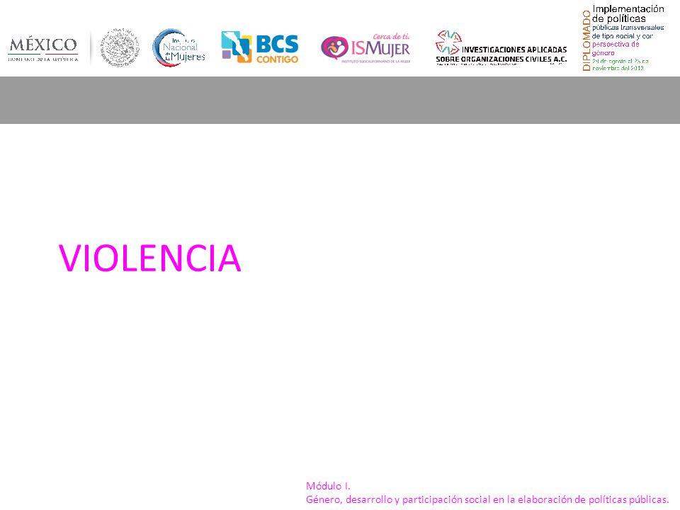 Módulo I. Género, desarrollo y participación social en la elaboración de políticas públicas. Verbal