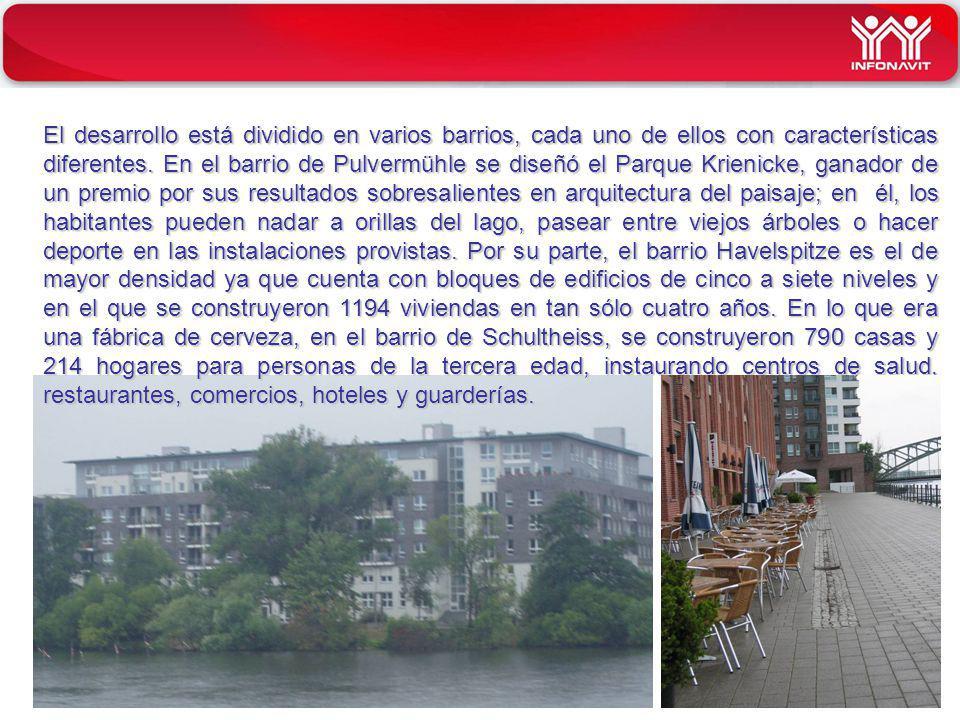 INFONAVIT El desarrollo está dividido en varios barrios, cada uno de ellos con características diferentes. En el barrio de Pulvermühle se diseñó el Pa
