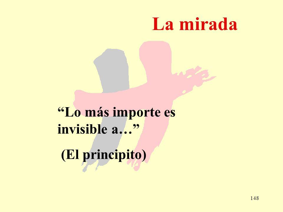 148 La mirada Lo más importe es invisible a… (El principito)