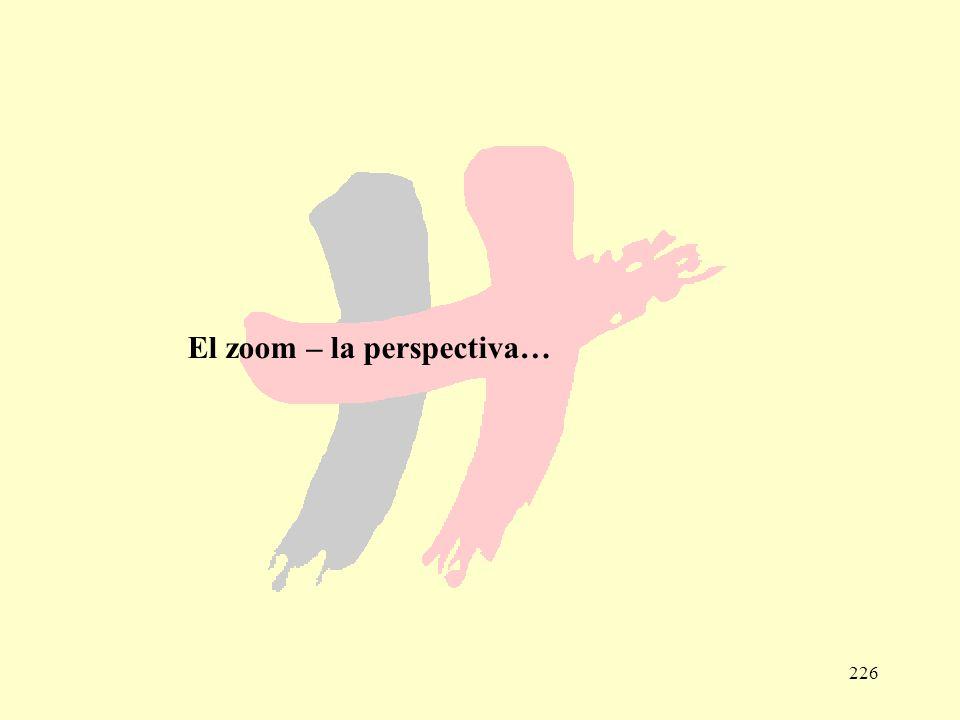 226 El zoom – la perspectiva…