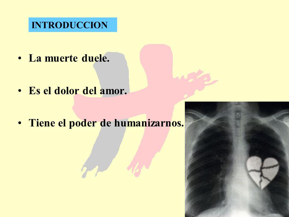 4 La muerte duele. Es el dolor del amor. Tiene el poder de humanizarnos. INTRODUCCION