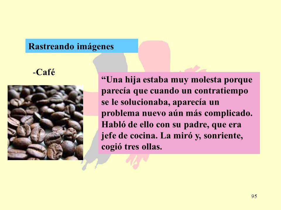 95 -Café Rastreando imágenes Una hija estaba muy molesta porque parecía que cuando un contratiempo se le solucionaba, aparecía un problema nuevo aún m