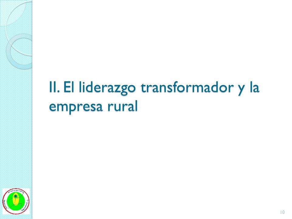 II. El liderazgo transformador y la empresa rural 10