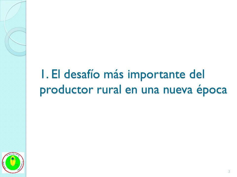 1. El desafío más importante del productor rural en una nueva época 3