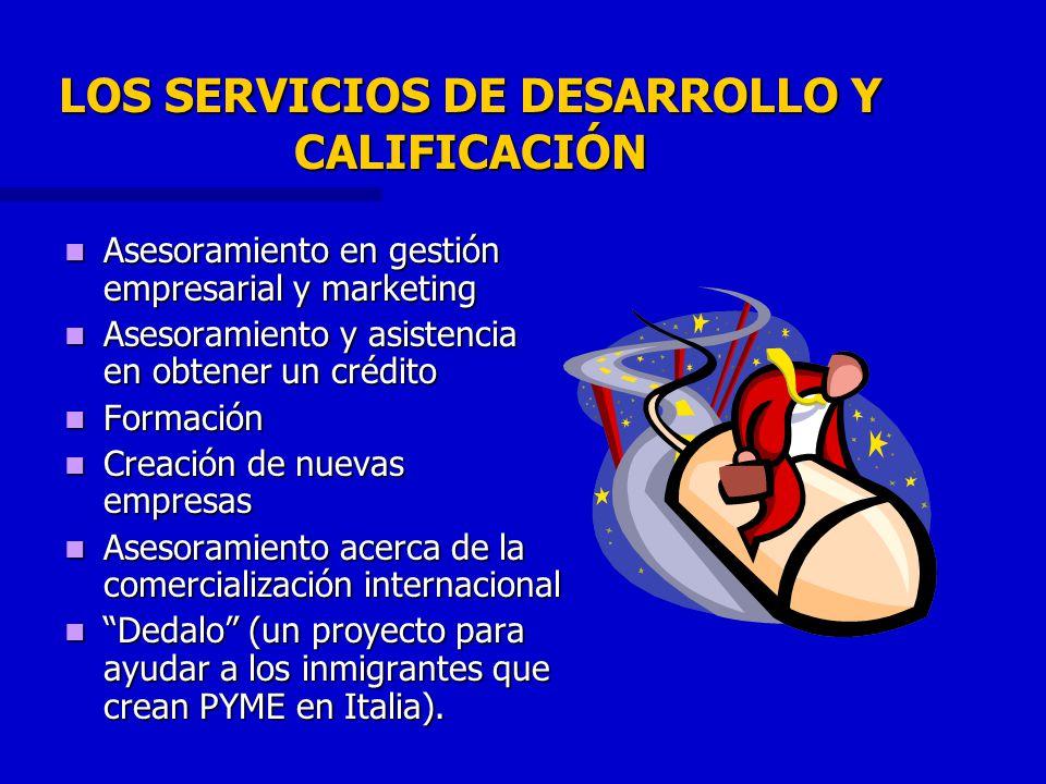 LOS SERVICIOS DE DESARROLLO Y CALIFICACIÓN Asesoramiento en gestión empresarial y marketing Asesoramiento en gestión empresarial y marketing Asesorami