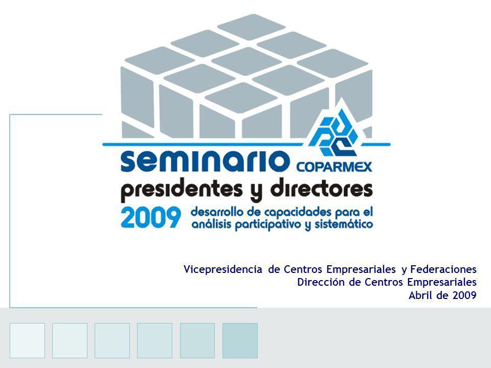 13 Vicepresidencia de Centros Empresariales y Federaciones Dirección de Centros Empresariales Abril de 2009