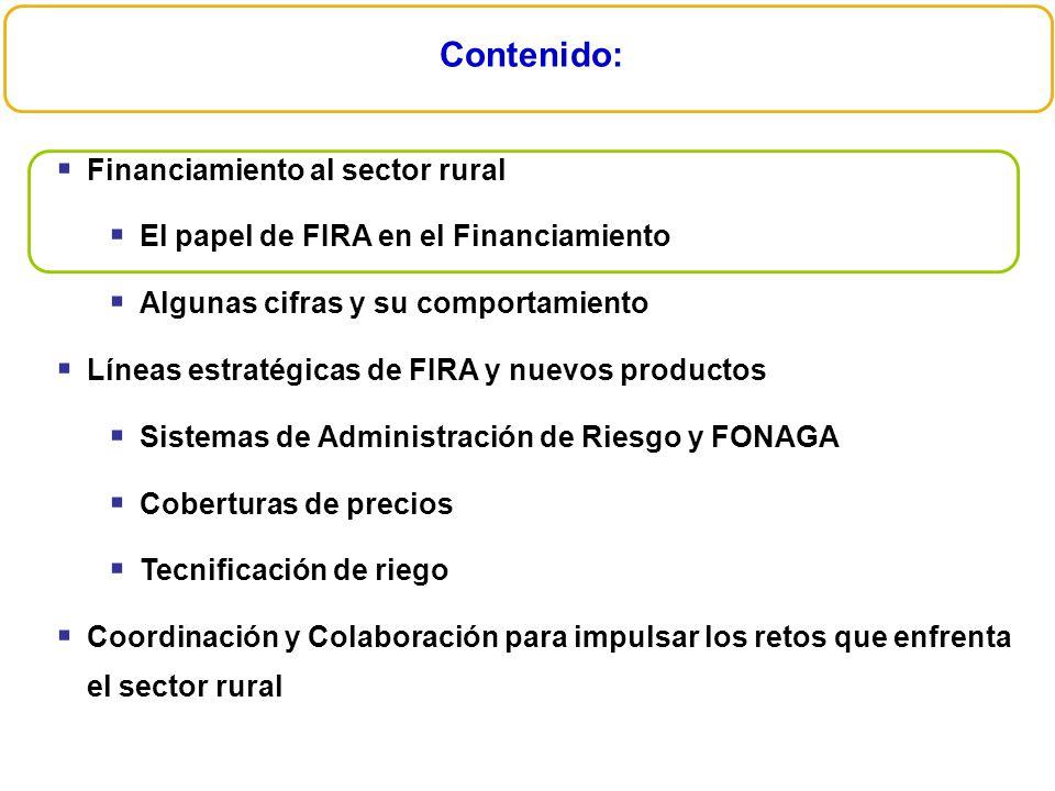Además se ha continuado con la integración de esquemas que permitan apoyar a mayor número de productores FIRA Productores Acreditados (Número) Nivel de Acreditado En el 2008 los acreditados PD1 y PD2 apoyados con recursos FIRA representaron el 97% del total.