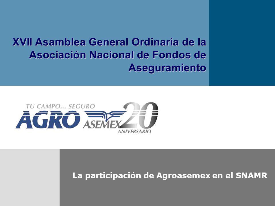 La participación de Agroasemex en el SNAMR XVII Asamblea General Ordinaria de la Asociación Nacional de Fondos de Aseguramiento