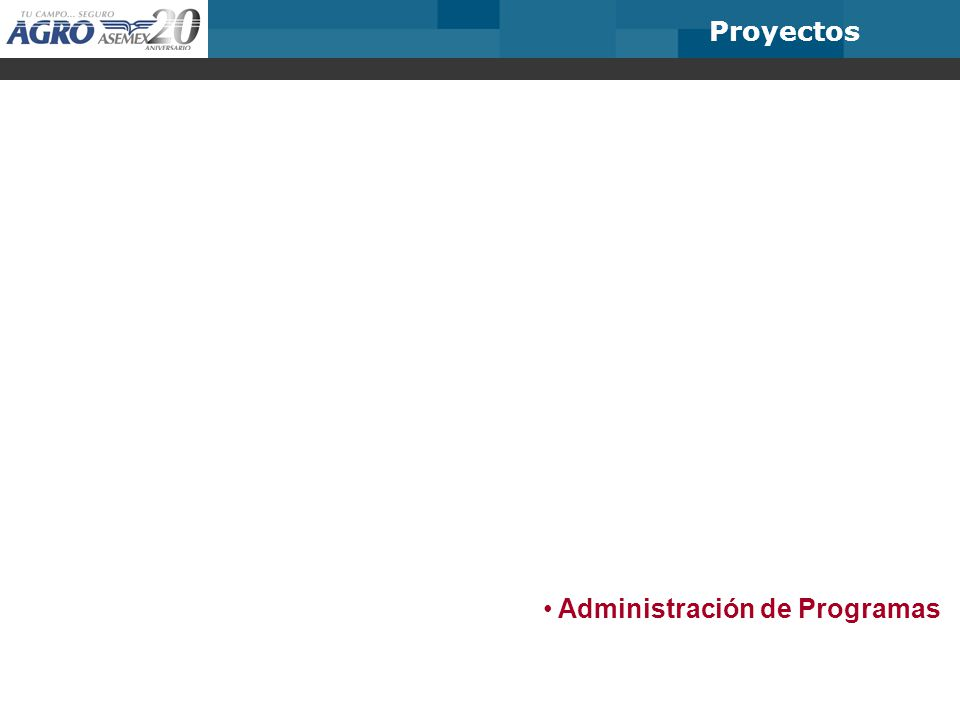 Proyectos Administración de Programas
