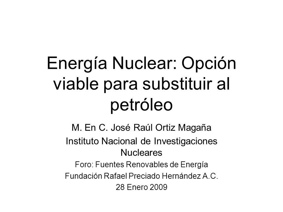 Energía Nuclear: Opción viable para substituir al petróleo M.
