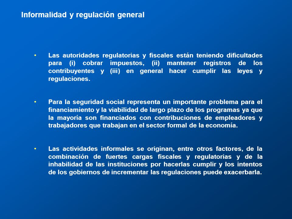III. Regulación general