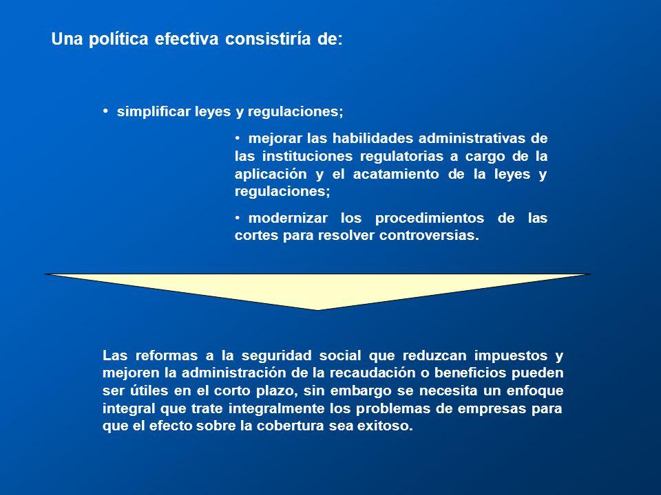 Informalidad y regulación general Las autoridades regulatorias y fiscales están teniendo dificultades para (i) cobrar impuestos, (ii) mantener registros de los contribuyentes y (iii) en general hacer cumplir las leyes y regulaciones.