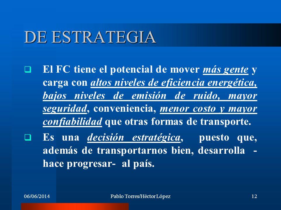 06/06/2014Pablo Torres/Héctor López12 DE ESTRATEGIA El FC tiene el potencial de mover más gente y carga con altos niveles de eficiencia energética, ba