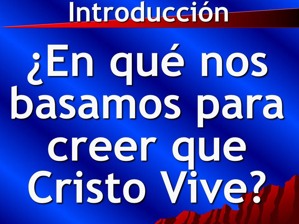 ¿En qué nos basamos para creer que Cristo Vive Introducción