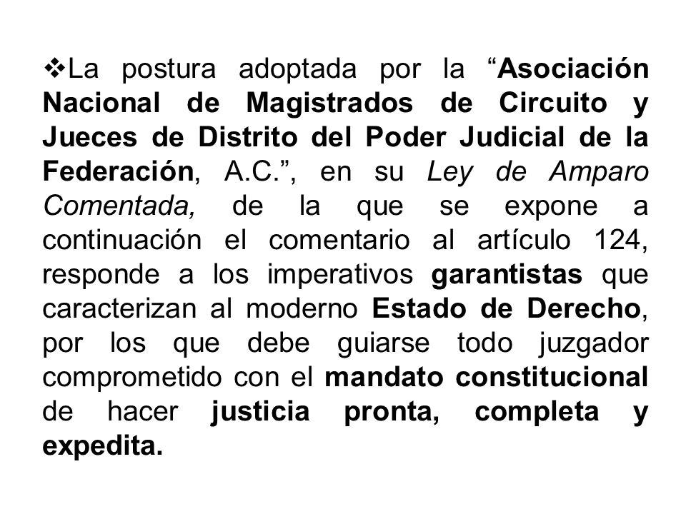 La postura adoptada por la Asociación Nacional de Magistrados de Circuito y Jueces de Distrito del Poder Judicial de la Federación, A.C., en su Ley de