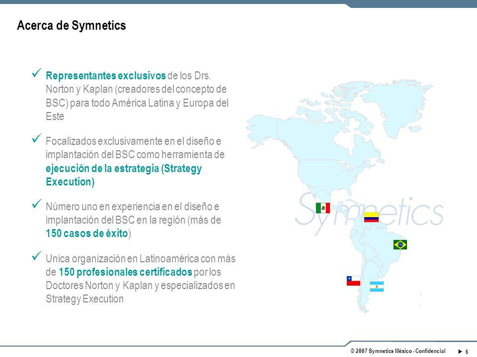 6 © 2007 Symnetics México - Confidencial Representantes exclusivos de los Drs.