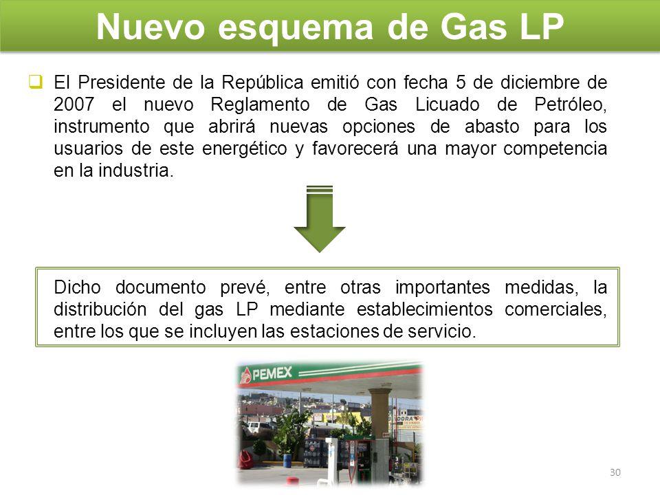El Presidente de la República emitió con fecha 5 de diciembre de 2007 el nuevo Reglamento de Gas Licuado de Petróleo, instrumento que abrirá nuevas op