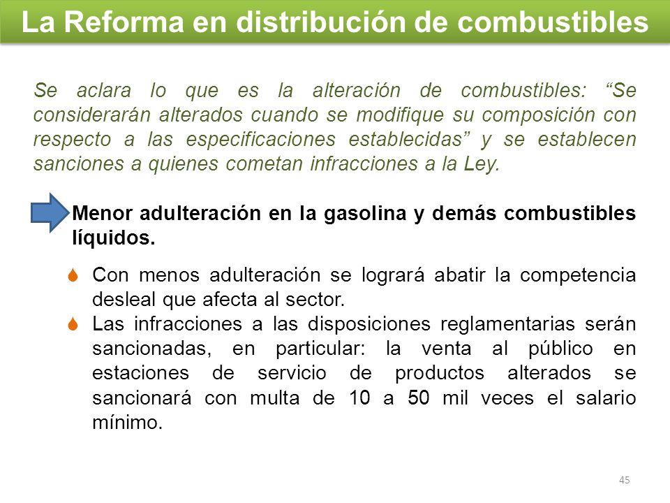 Se aclara lo que es la alteración de combustibles: Se considerarán alterados cuando se modifique su composición con respecto a las especificaciones es