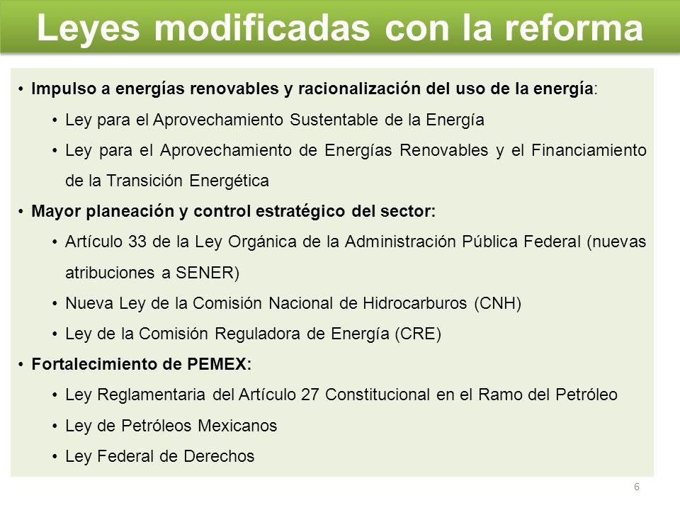 Conclusiones En resumen, la reforma permitirá construir un sector energético que sea una palanca para el desarrollo de México, cuidando del medio ambiente y pensando en las generaciones futuras.