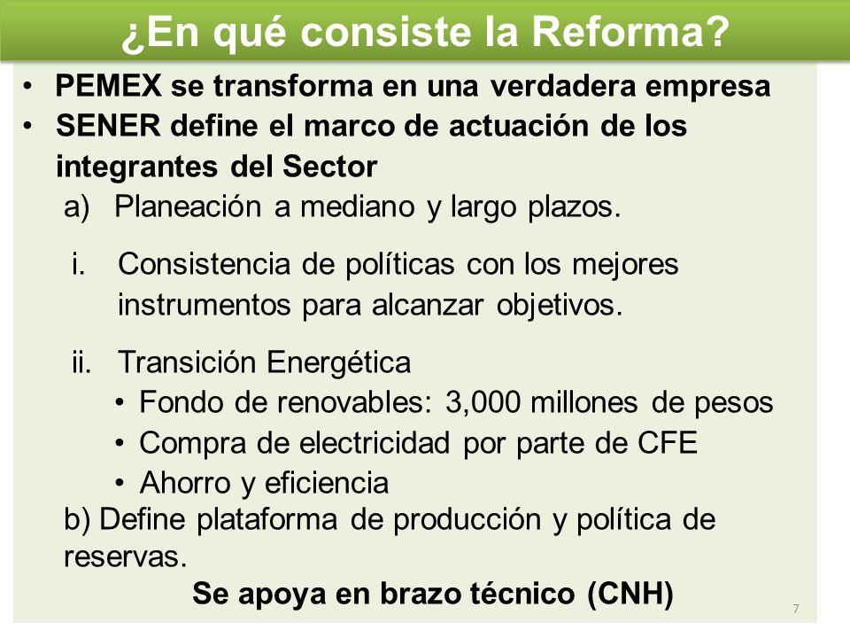 En lo que se refiere al autoabastecimiento, se han considerado los proyectos eólicos de temporada abierta, con 2,500 MW de capacidad para autoabastecimiento remoto en el Istmo de Tehuantepec al 2012.