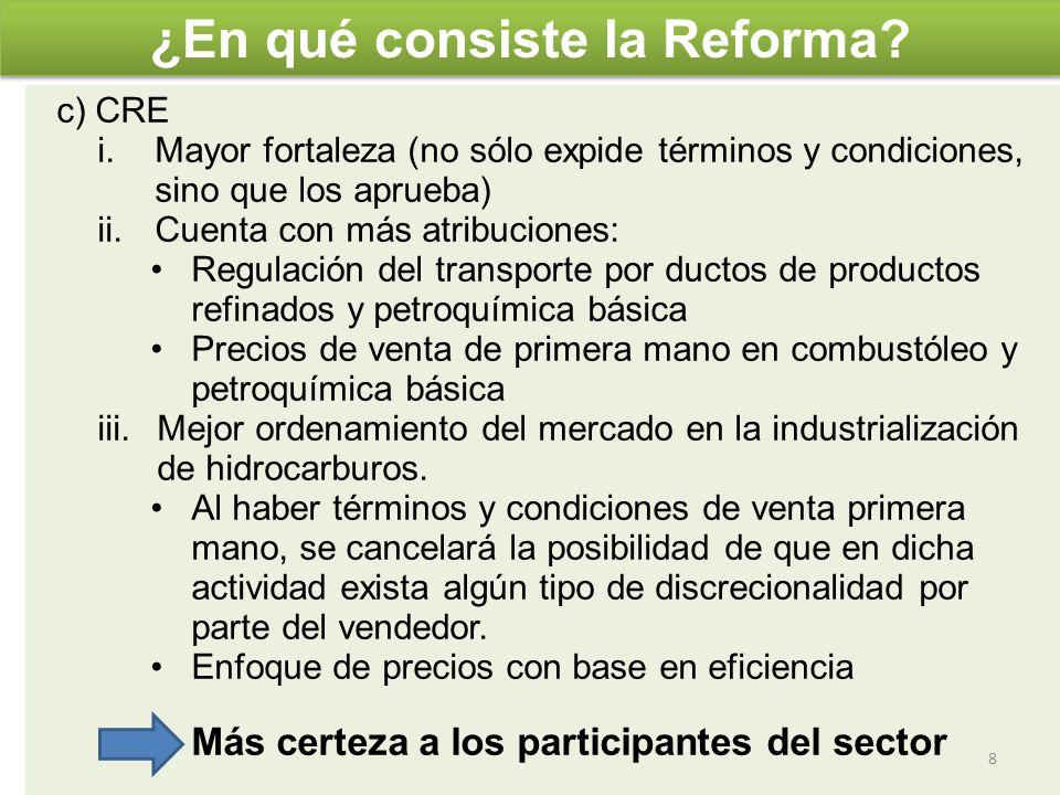 19 Antecedentes.La Reforma Energética 1. Ejes de la Reforma Energética.