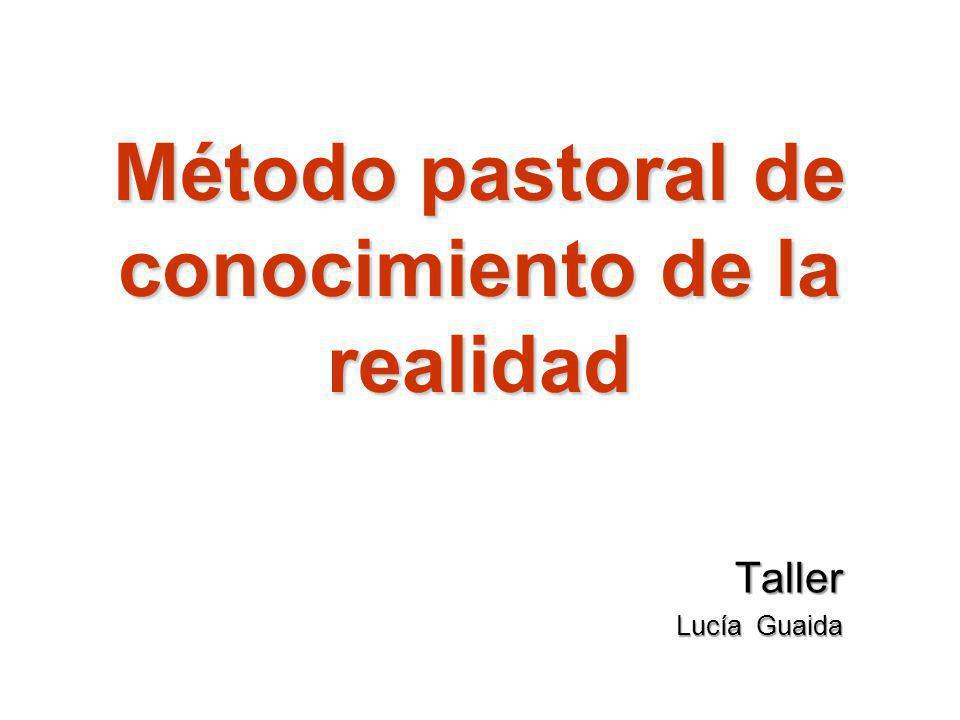Método pastoral de conocimiento de la realidad Taller Lucía Guaida